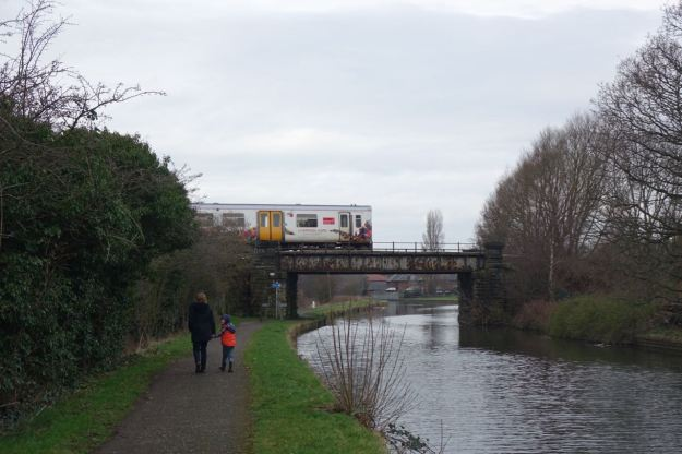 Into Maghull now, by the train station.