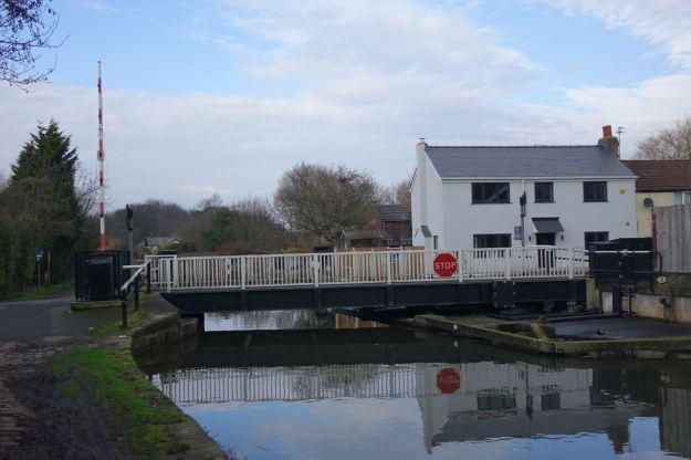 The Hall Lane Swing Bridge.