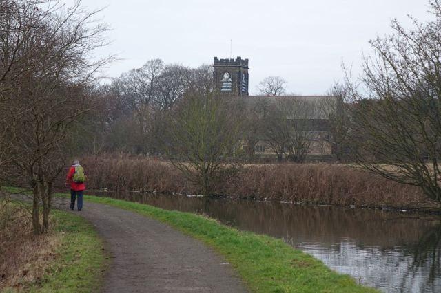 Passing St Andrew's parish church.