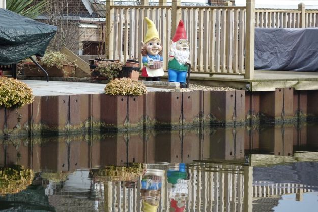 Watched by gnomes who wonder why the humans don't make more benches for each other?