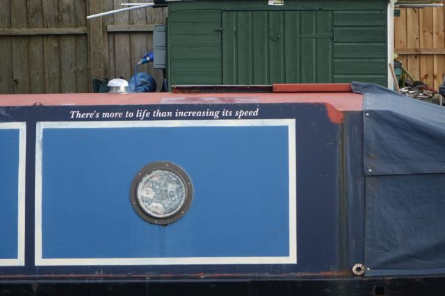 A boat with a peaceful message...